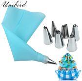 Slagroomspuit met 6 Spuitmondjes - Herbruikbaar - Garneerspuit - Decoratie - Taart - Gebak - Cupcake - Cake - RVS - Slagroom Spuitzak - Blauw