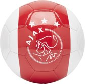Ajax bal groot wit met rode baan en kruizen