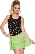 Fluo groene rok met lagen voor volwassenen - Verkleedattribuut