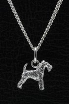 Zilveren Welsh terrier ketting hanger - klein