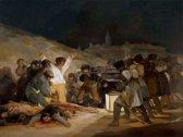 Francisco Goya : El Tres de Mayo de 1808 en Madrid (1814)  Canvas Print