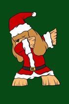 Dabbing Charles Spaniel Dog Santa: Christmas Eve Notebook - Funny Dabbing Xmas Snowman Winter Santa Claus Holiday Dab Season Mini Notepad Gift College