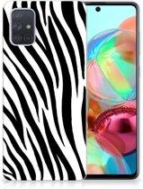 Samsung Galaxy A71 TPU Hoesje Zebra