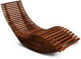 Ligbed/ schommelstoel - acaciahout