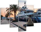 Glas schilderij Boot, Natuur | Grijs, Blauw, Wit | 100x70cm 5Luik | Foto print op Glas |  F007204
