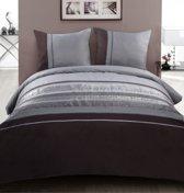 Luxe Pure dekbedovertrek met borduursels,  - lits jumeaux, 240x200/220cm + 2 kussenslopen