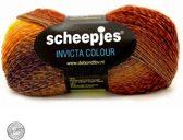 Scheepjes Invicta Colour 974 BRUIN GEEL PAARS. PAK MET 5 BOLLEN a 100 GRAM.
