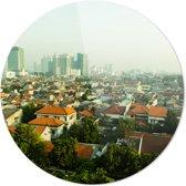 Jakarta | Rond Plexiglas | Wanddecoratie | 90CM x 90CM | Schilderij | Foto op plexiglas