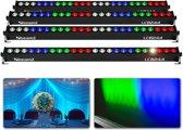Bundelset van 4 BeamZ LCB244 LED bars - 24 LED's & 8 secties per bar.