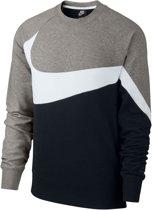 Nike Sportswear Crew Sporttrui - Maat M  - Mannen - grijs/wit/zwart