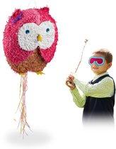 relaxdays Pinata uil - trek pinata - piñata - verjaardag - zelf vullen - groot