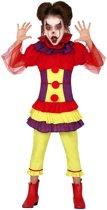 Horror clown Penny verkleed kostuum voor meisjes - Halloween verkleedkleding - Horrorclowns 5-6 jaar (110-116)