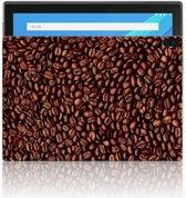 Lenovo Tab 4 10.1 Uniek Tablethoesje Koffiebonen