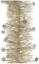 Kerst creme folieslinger met sterren 270 cm