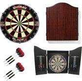 Winmau Blade 5 Champion set inclusief dartbord en 2 sets Winmau darts - startersset - dartpijlen - dartbord