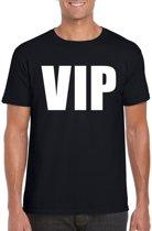 VIP tekst t-shirt zwart heren S