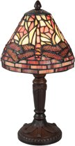 Tafellamp Tiffany ø 18*34 cm / E14/max 1*40W Multi | 5LL-5937 | Clayre & Eef