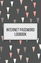 Internet Password Logbook-Small Size Alphabetical Password Notebook Organizer-5.5''x8.5'' 120 pages Book 2: Keep Track of Usernames Passwords Websites-B