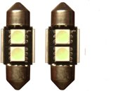 2 SMD Rood Canbus LED binnenverlichting C5W 31mm