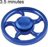 Fidget Spinner Toy Stress rooducer Anti-Anxiety Toy voor Children en Adults, 3.5 Minutes Rotation Time, Small Steel Beads Bearing + Aluminum Alloy materiaal, Wind Wheel(blauw)