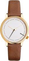 Komono Estelle Prime Cognac horloge dames - bruin - messing