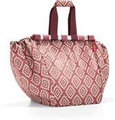 Reisenthel Easyshoppingbag - Boodschappentas voor winkelwagen - Opvouwbaar - Polyester - 30L - Diamonds Rouge Rood;Zand