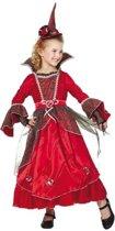 Prinsessenjurk rood luxe