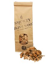 Smokey Olive Wood- Houtsnippers - Olijfhout - 500ml - Chips grote maat ø 2cm-3cm