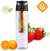 LenV - XL Fruit Infuser Fruitwater Filter Sport Fles BPA Vrij 800ML