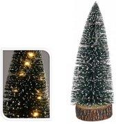 kerstboom met verlichting 28cm kerstartikelen