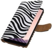 Wicked Narwal   Zebra bookstyle / book case/ wallet case Hoesje voor Samsung Galaxy S8 Plus Wit