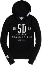 Superdry Track & Field  Sporttrui - Maat L  - Vrouwen - zwart/wit