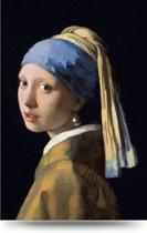 Meisje met de Parel van Johannes Vermeer  80x120 – Glas Schilderij