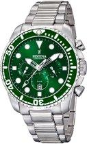 Festina F16564/B horloge heren - zilver - edelstaal