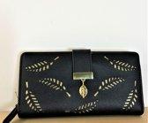 14a1ed30230 Fashionidea – mooie zwarte dames portemonnee van PU leer ook geschikt voor  kleingeld