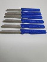 Solingen-schilmes-met kartel-vlijmscherpe Messen set 6-delig van roesvrij staal(Blauw) Made in Germany