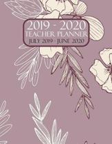 Teacher Planner 2019-2020 July 2019 - June 2020