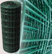 Tuingaas groen 80 cm   Rol 25 m.   100 x 50 mm geplastificeerd