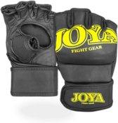 Joya Fight Fast MMA Grip - MMA handschoenen - Leer - Maat XL - Matzwart/Geel