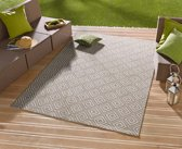 Vloerkleed - In&outdoor - bougari Karo - Grijs - 160x230cm geweven