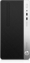 HP ProDesk 400 G4 Zevende generatie Intel® Core™ i5 i5-7500 8 GB DDR4-SDRAM 256 GB SSD Zwart, Zilver Micro Tower PC