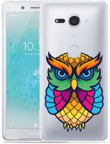 Xperia XZ2 Compact Hoesje Colorful Owl Artwork