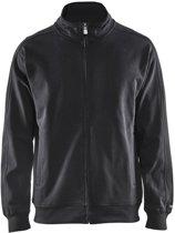 Blåkläder 3349-1048 Sweatshirt lange rits Zwart maat M