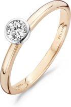 Blush Ring 1124RZI - Rosé Goud (14Krt.) met Zirconia