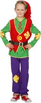 Dwerg & Kabouter Kostuum | Vlijtige Kabouter Lange Muts | Jongen | Maat 164 | Carnaval kostuum | Verkleedkleding