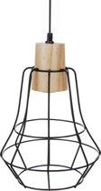 Hanglamp 25cm zwart e27 ass