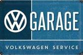 VW Garage Metalen Postcard 10x14 cm