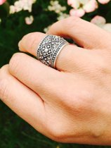 Boho ring Floria - 925 zilver - maat One-size - maat One-size