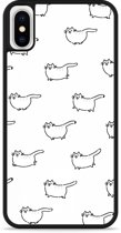 iPhone X Hardcase hoesje Love my Cat
