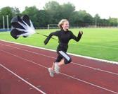Trenas - Premium Sprint Parachute - incl. tailleriem en draagtas - Zwart/Wit